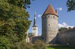 Ciudad medieval de Tallinn Fotografía de archivo libre de regalías
