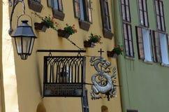 Ciudad medieval del sighisoara fotografía de archivo