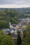 Ciudad medieval en primavera Foto de archivo libre de regalías