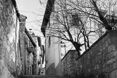 Ciudad medieval - Pescasseroli - Aquila Foto de archivo libre de regalías
