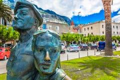 Ciudad mediterránea vieja Makarska en Dalmacia, Croacia fotografía de archivo