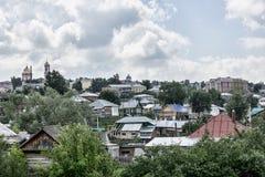 Ciudad mercantil vieja Birsk Fotografía de archivo libre de regalías