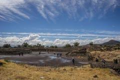 Ciudad mexicana antigua Fotografía de archivo libre de regalías