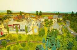 Ciudad miniatura Fotos de archivo