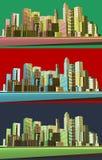 Ciudad moderna abstracta stock de ilustración
