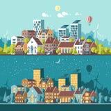 Ciudad moderna amistosa verde de la energía y del eco Imagen de archivo