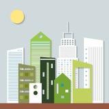 Ciudad moderna de Eco Piense el concepto verde Fotos de archivo libres de regalías