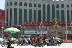 Ciudad moderna de Kashgar, Xinjiang, China imagenes de archivo
