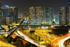 Ciudad moderna en la noche Fotografía de archivo
