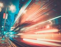 Ciudad moderna en la noche Imágenes de archivo libres de regalías