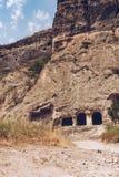 Ciudad-monasterio de la cueva de Vardzia Foto de archivo