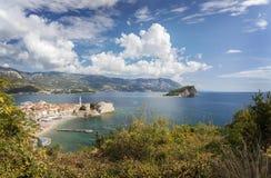 Ciudad Montenegro de Budva Fotografía de archivo libre de regalías
