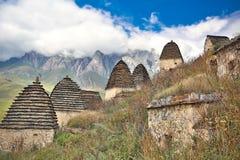 Ciudad muerta Dargavs en Ossetia del norte Imagen de archivo