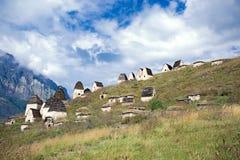 Ciudad muerta Dargavs en Ossetia del norte Fotografía de archivo