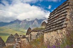 Ciudad muerta Dargavs en Ossetia del norte Foto de archivo libre de regalías