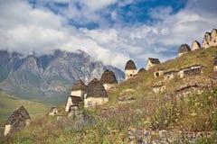 Ciudad muerta Dargavs en Ossetia del norte Fotos de archivo libres de regalías