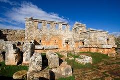 Ciudad muerta de Serjilla imágenes de archivo libres de regalías