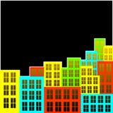 Ciudad multicolor. Foto de archivo