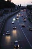 Ciudad nocturna que viaja Fotografía de archivo libre de regalías