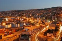 Ciudad Nocturna,valparaiso Stock Photography