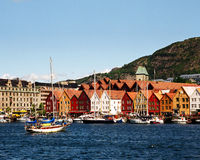 Ciudad noruega imagenes de archivo