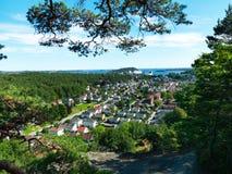 Ciudad noruega, Kristiansand Foto de archivo libre de regalías