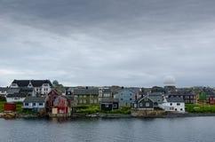 Ciudad noruega Vardo fotos de archivo