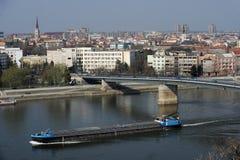 Ciudad Novi de Serbia triste Foto de archivo