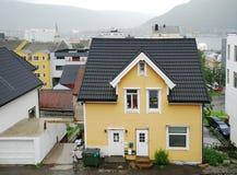 Ciudad nórdica Tromso en verano Foto de archivo libre de regalías