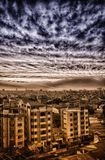 Ciudad nublada Fotografía de archivo