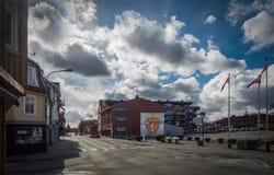 Ciudad nublada del día Imagenes de archivo