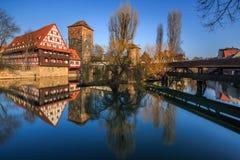 ciudad Nuremberg-Alemania-vieja Foto de archivo libre de regalías