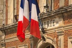 Ciudad o ayuntamiento francesa imagenes de archivo