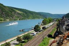 Ciudad Oberwesel en el valle medio del Rin Fotos de archivo