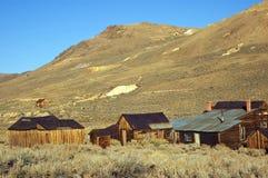 Ciudad occidental de la explotación minera del fantasma del oro de los E.E.U.U. de bodie Imagenes de archivo