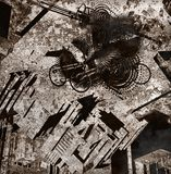 Ciudad oscura stock de ilustración