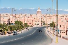 Ciudad Ouarzazate del desierto en Marruecos Imagenes de archivo