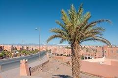 Ciudad Ouarzazate del desierto en Marruecos Imagen de archivo