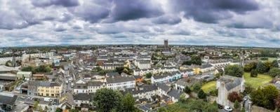 Ciudad Panormama de Kilkenny Foto de archivo libre de regalías