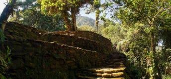 Ciudad Perdida aka the Lost City in Colombia. Tayrona culture stock photography