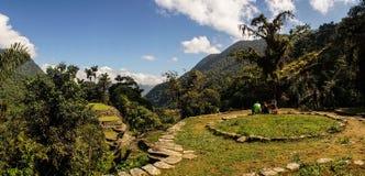 Ciudad Perdida aka the Lost City in Colombia. Tayrona culture royalty free stock image
