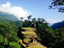 Ciudad Perdida, Colombia royalty-vrije stock foto's