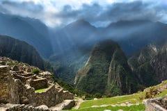 Ciudad perdida de los incas Foto de archivo