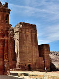 Ciudad perdida del Petra, Jordania Imagen de archivo libre de regalías