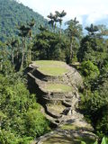 Ciudad perdida- Lost City Colombia. Ciudad perdida or Lost City in English is an ancient settlement in the National Park in North Colombia stock photography
