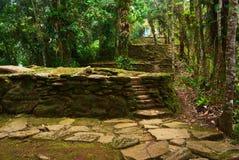 Ciudad Perdida (ville perdue) en Colombie du nord Photographie stock