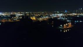 Ciudad Philadelphia del centro de la visión aérea y alrededores metrajes