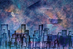 Ciudad pintada stock de ilustración