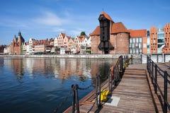 Ciudad pintoresca de Gdansk en Polonia Fotos de archivo libres de regalías