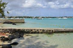 Ciudad pintoresca de la bahía magnífica en Mauritius Republic Fotografía de archivo libre de regalías
